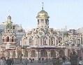 La Iglesia de Nuestra senora de Kazan, La Plaza Roja. Moscu